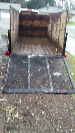 5x10x4 Trailer. Especially handy for small loads or rolling up appliances.
